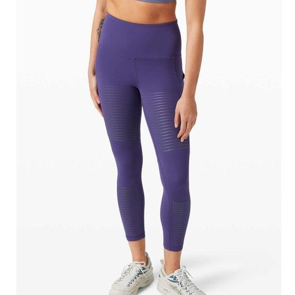 """Lululemon Rogue Renegade Super High Rise Tight 25"""" / Size 10 / Midnight Orchid"""
